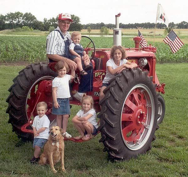 Marion and Grandkids, 2005.