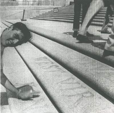 Marion Futhey on the Kansas step at the Baton Rouge Capitol.