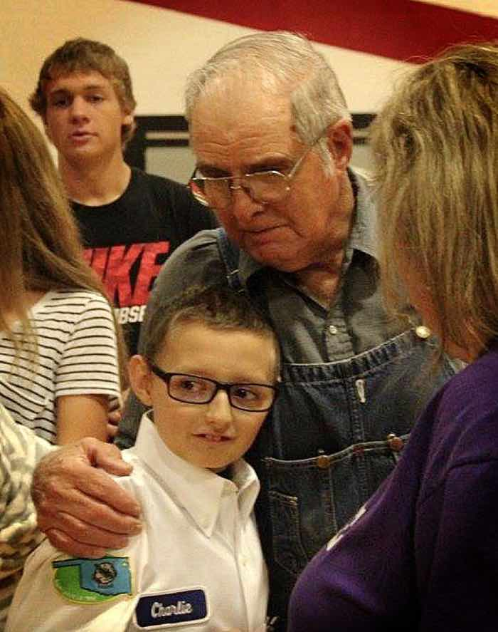 Charlie and Grandpa Marion