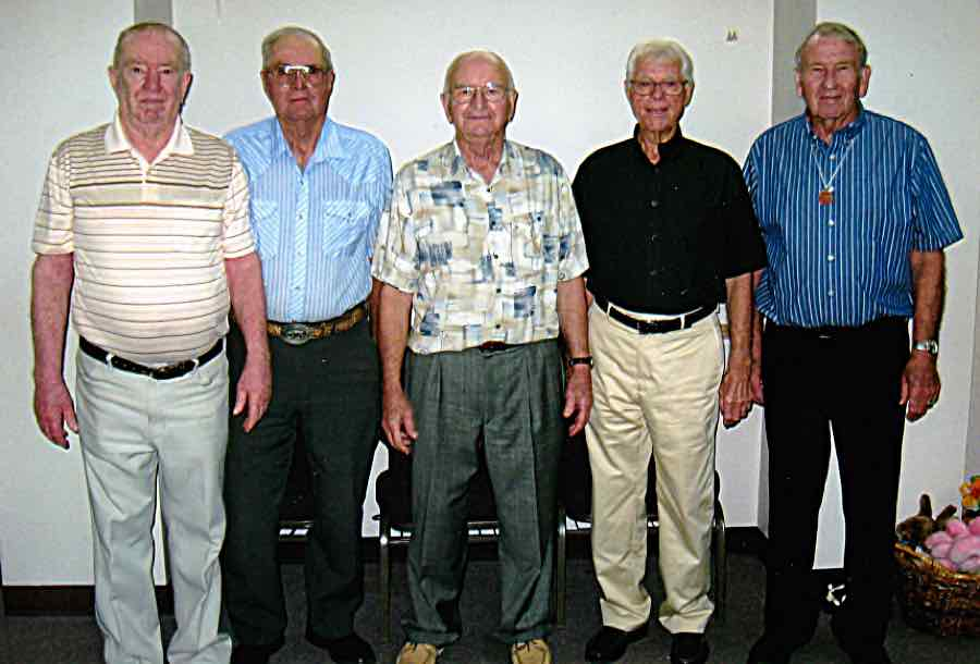 Larry Young, Marion Futhey, Larry Webster, Richard Pearson, Dick Albright.