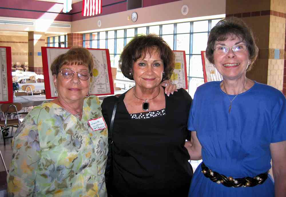 Juanita Wiseman, Leota Albright, and Barbara Phillips on Saturday.