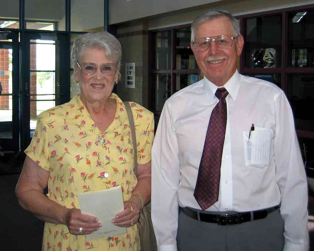 Elsie Miller and Jim Walton; we do get dressed up once in a while.
