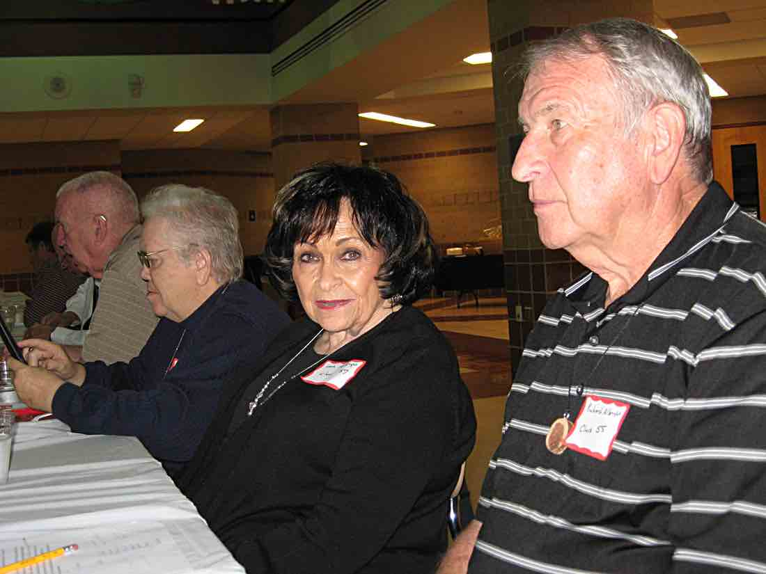 Larry, Ann, Leota, & Dick at the banquet.