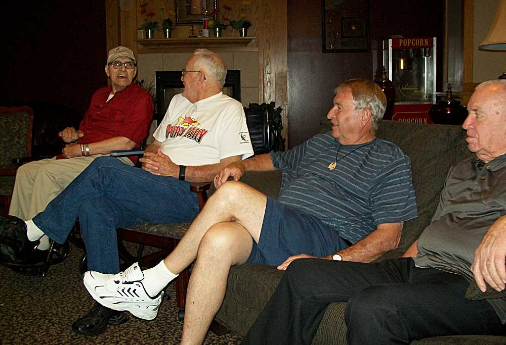 Wayne Bacon, Vern Timmons, Dick Albright & Larry Young at the care center.
