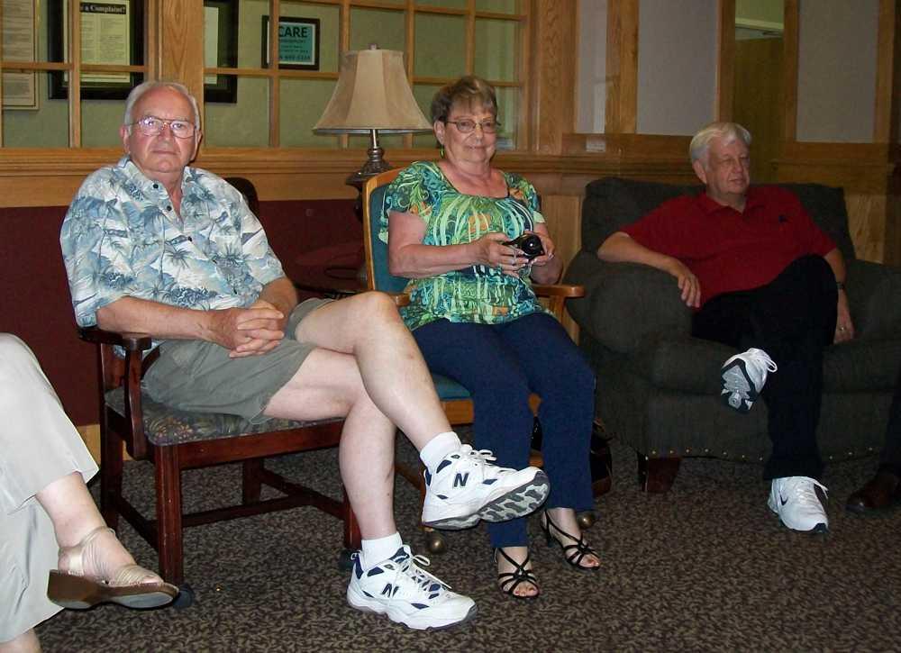 Larry Webster, Juanita & Chuck Wiseman.